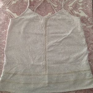 Victoria's Secret Oatmeal Burn Out Tank Top